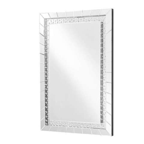 Sparkle 31.5 in. Contemporary Crystal Rectangle Mirror in Clear