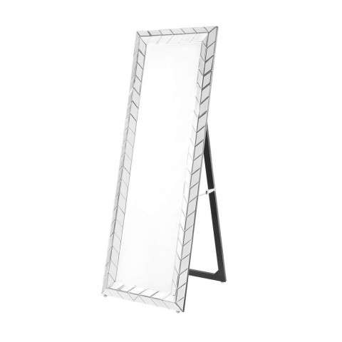 Sparkle 22 in. Contemporary Standing Full length Mirror in Clear