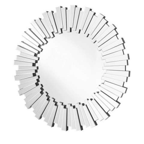 Sparkle 39.5 in. Contemporary Round Mirror in Clear