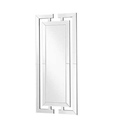 Sparkle 21 in. Contemporary Rectangle Mirror in Clear