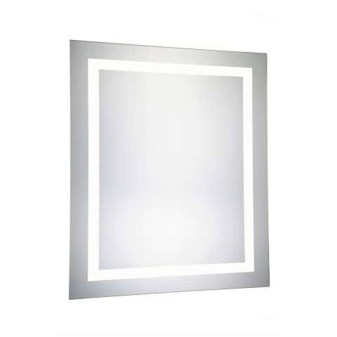 "4 Sides LED Hardwired Mirror Rectangle W32""H40"" Dimmable 5000K"