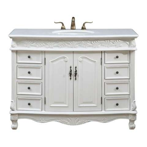 48 in. Single Bathroom Vanity set in Antique White