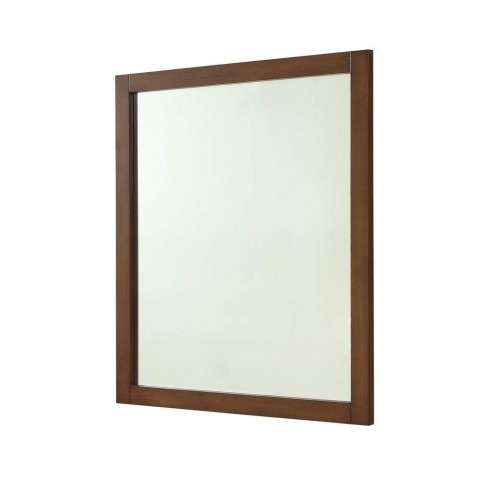 Americana 32 in. Contemporary Mirror in Teak