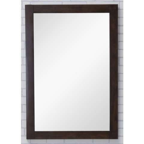 Aqua Vanity Mirror 22in. X 32in. in Antique Coffee