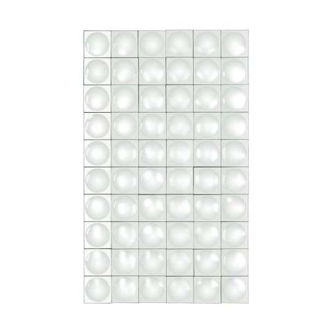 Modern Geometric Grid Mirror in Clear