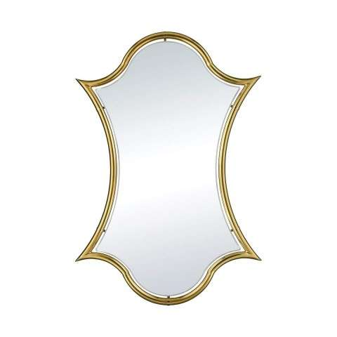 Minos Barbed Wall Mirror in Gold Plate