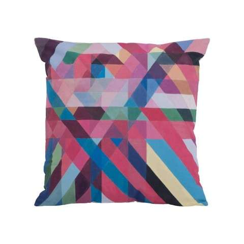 Color Ribbons Pillow in Hand - Painted