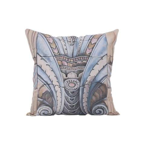Art Deco Ornament Pillow Cover Only - Handpainted Art