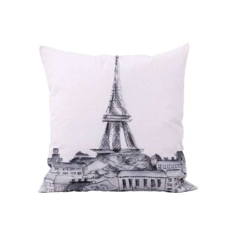Parisian Cityscape Pillow Cover Only - Handpainted Art