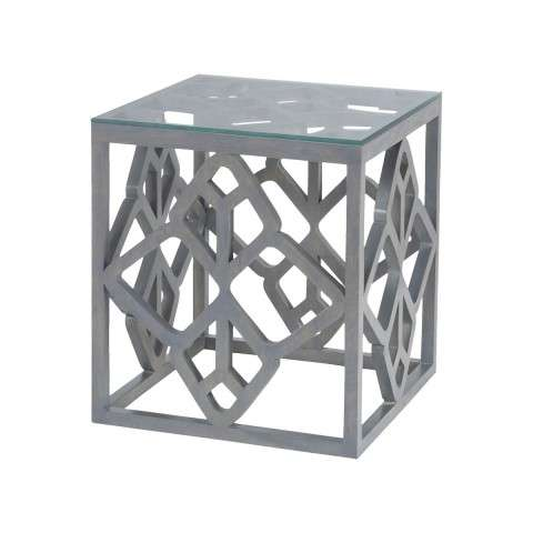 Bain Side Table in Antique Smoke
