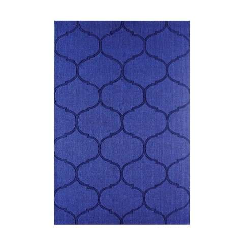 Dash Handwoven Wool Rug 96x120 in Blue