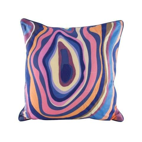 Vibrant Agate Pillow With Goose Down Insert in Digital Print