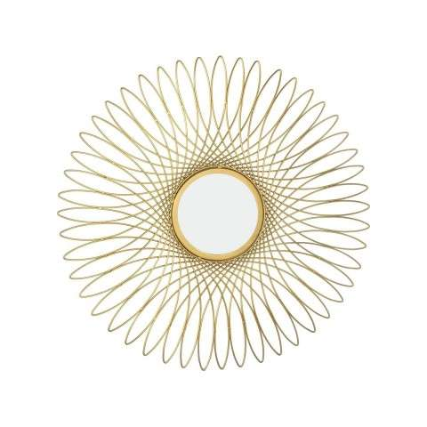 Guilloche Mirror in Gold