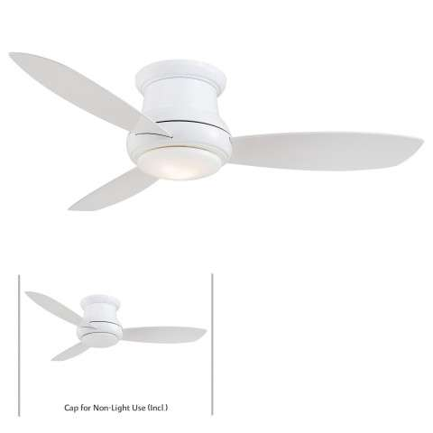 "Minka Aire 52"" Concept II LED Indoor Only in White"