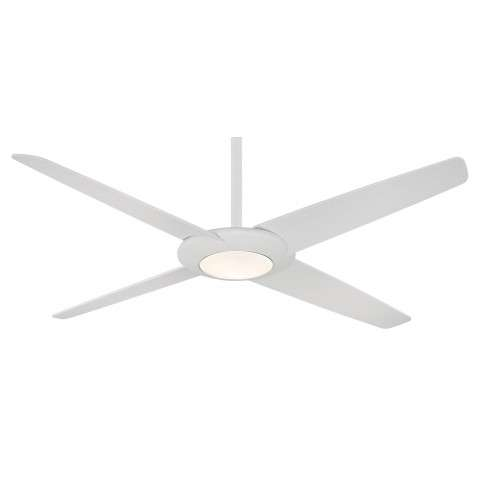 Minka Aire Pancake XL LED 62 Ceiling Fan Model F739L-WHF in Flat White with Flat White Blades