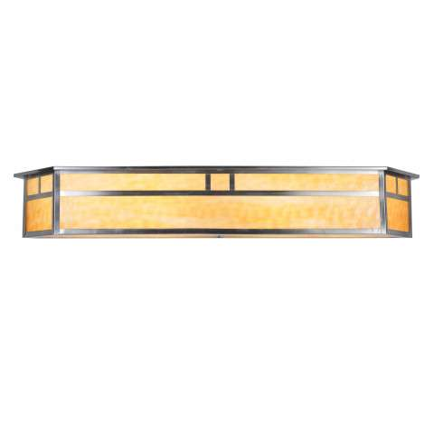 Meyda Tiffany 106393 Hyde Park Double Bar Mission Vanity Light in Brushed Nickel finish
