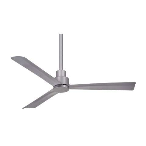 "Simple 44"" LED Ceiling Fan In Silver"
