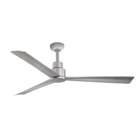 "Minka Aire Simple 52"" Ceiling Fan Model F787-SL in Silver - With canpoy"