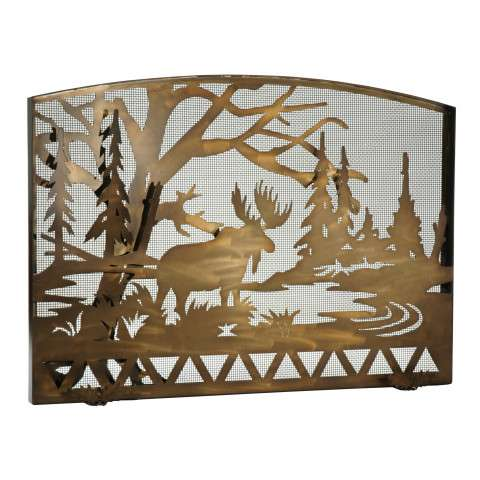 """Moose Creek Arched Fireplace Screen - 60"""" Wide x 40.25"""" Tall"""