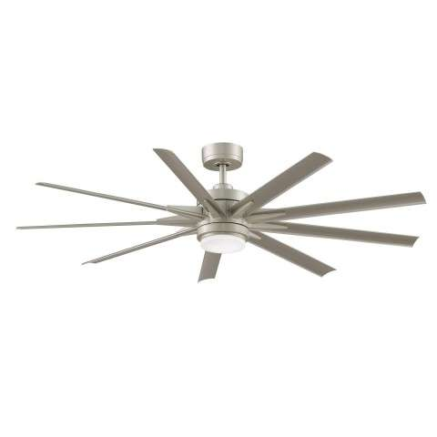 Fanimation Odyn Model MAD8152BNW Brushed Nickel shown with BPW8152-64BNW 64 Inch Silver Colored All Weather Composite Blades.