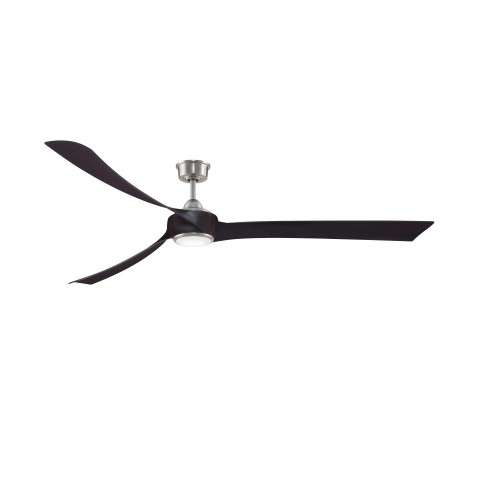 "Fanimation MAD8531BN Custom Wrap 84 Inch Ceiling Fan in Dark Bronze. Shown with BPW8531-84DWA 84"" Dark Walnut Blades and LK8530BN LED Light Kit."