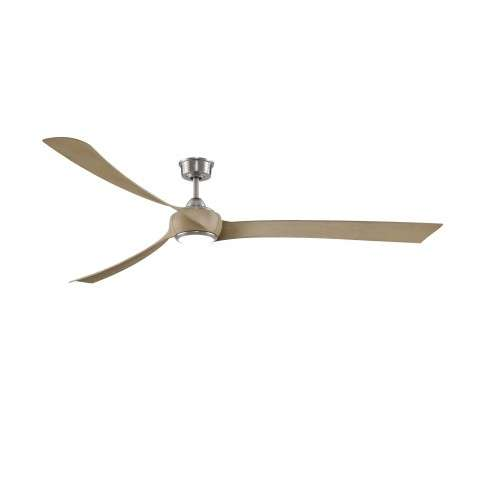 "Fanimation MAD8531BN Custom Wrap 84 Inch Ceiling Fan in Dark Bronze. Shown with BPW8531-84N 84"" Natural Wood Colored Blades and LK8530BN LED Light Kit."