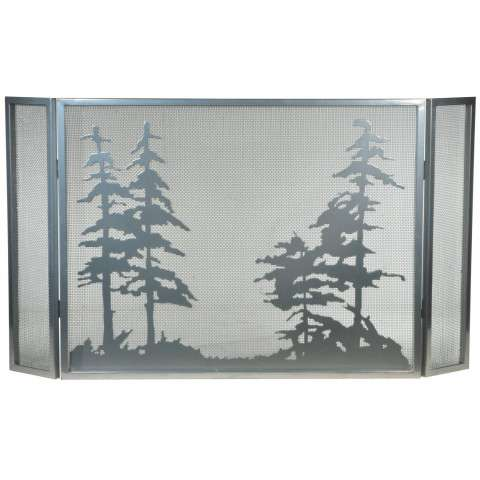 "Tall Pines Folding Fireplace Screen - 50"" Wide x 28"" Tall"