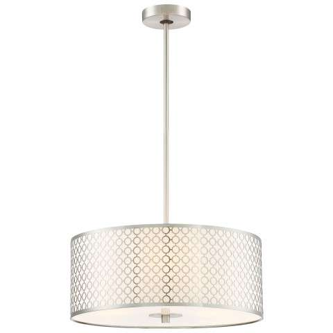 Dots 3 Light Pendant in Brushed Nickel
