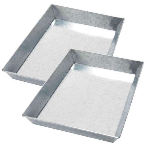 Minuteman Galvanized Steel Ash Pan Set for 33 Grate (set of two)