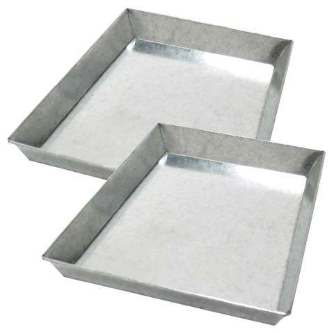 "Minuteman Galvanized Steel Ash Pan Set for 36"" Grate (set of two)"