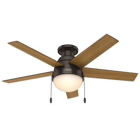 """Anslee Collection - 46"""" Premier Bronze Low Profile Integrated Light Kit"""