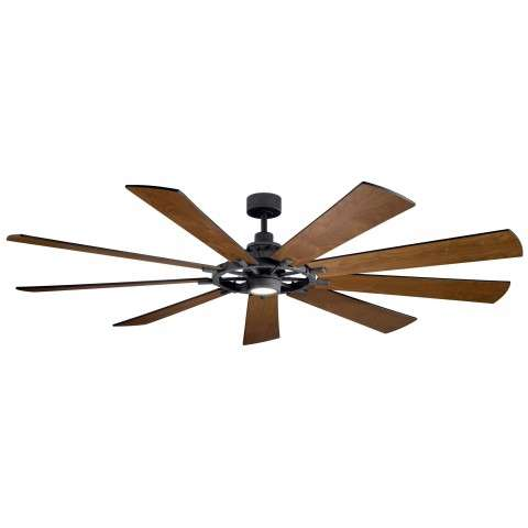Kichler 85 Inch Gentry  XL LED Ceiling Fan Model 300285DBK - Walnut
