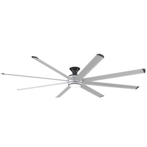 Stellar Ceiling Fan in Silver with Silver Blades - Flush Mounted