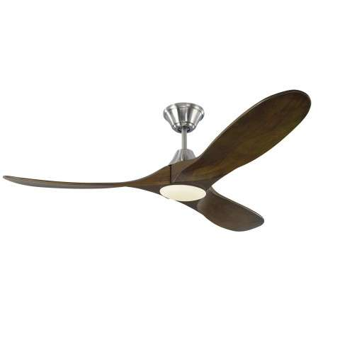 Monte Carlo Maverick 52 Inch LED Ceiling Fan Model 3MAVR52BSD in Brushed Steel