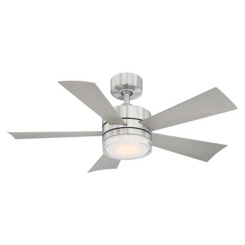 FR-W1801-42L-SS Modern Forms Wynd 42 Inch DC Smart Ceiling Fan