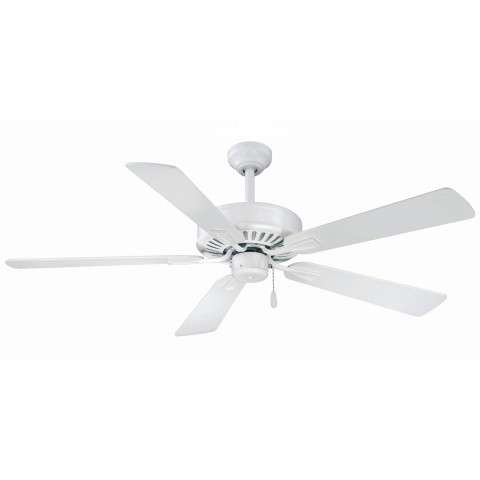 Minka Aire Contractor Plus Ceiling Fan Model F556-WHF in Flat White
