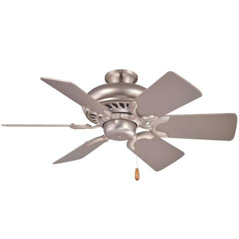 Minka Aire Supra 32 Ceiling Fan Model F562-BS in Brushed Steel - Flush Mount