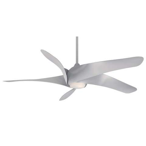 Minka Aire Artemis XL5 LED Ceiling Fan Model F905L-SL in Silver - With Light