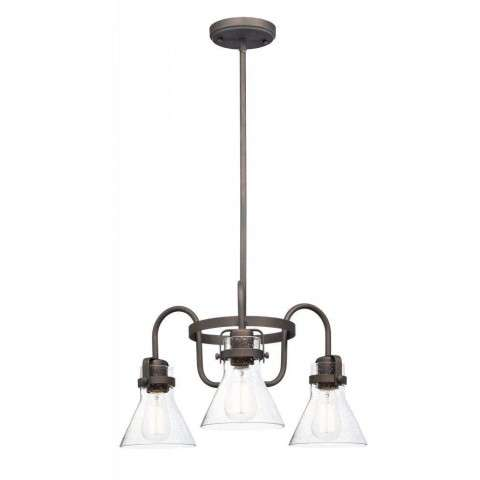Seafarer 3-Light Chandelier in Oil Rubbed Bronze