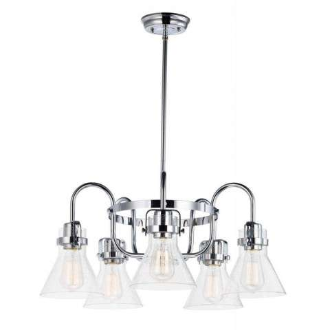 Seafarer 5-Light Chandelier With Bulbs in Polished Chrome