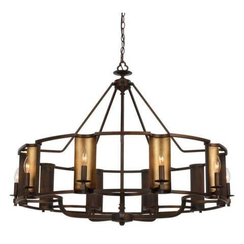Candella 10-Light Chandelier in Chestnut Bronze / Gold