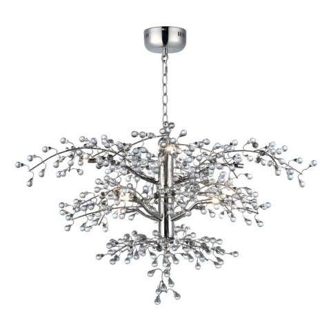 Cluster 8-Light Chandelier in Polished Nickel