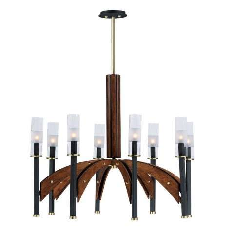Merge 8-Light Chandelier in Bronze / Antique Pecan