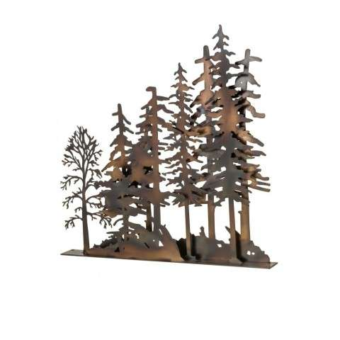 "31""L X 30""H Tall Pines Window Art"