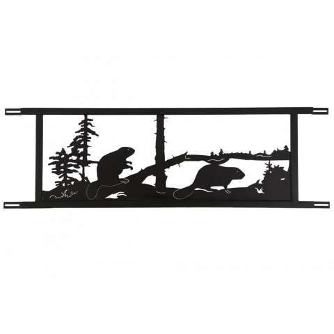 "94.5""W Neversink Bridge Beaver Decor"