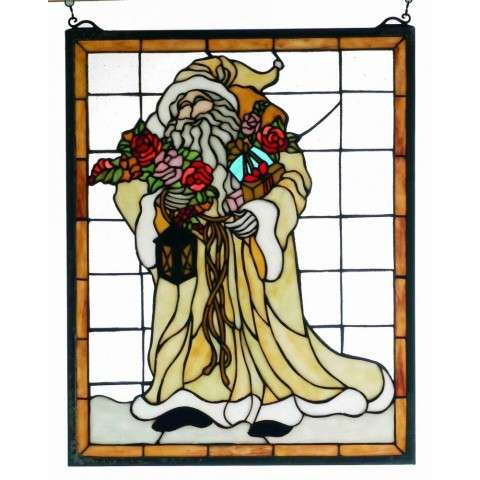 "16""W 20""H FATHER CHRISTMAS WINDOW"