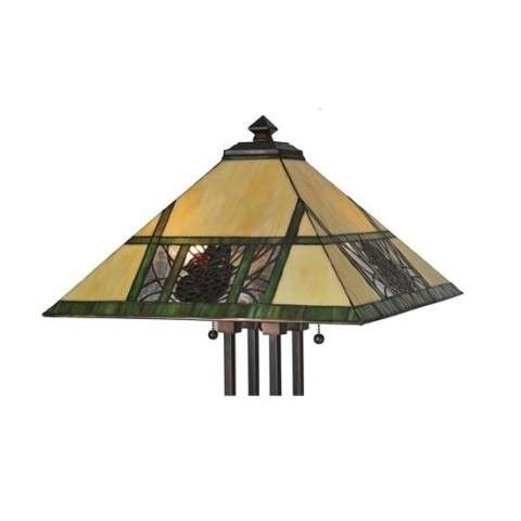 "17.5""Sq Pinecone Ridge Shade"