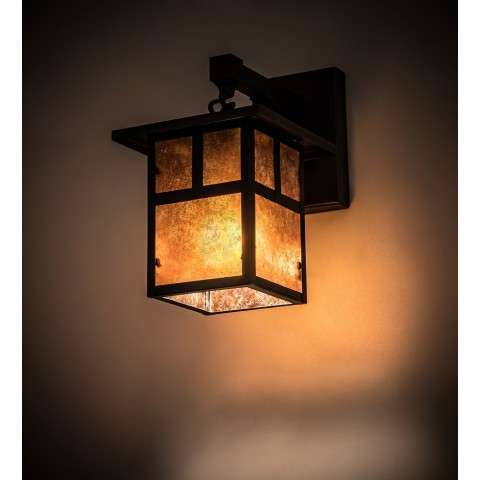 "6.5"" Wide Hyde Park ""T"" Mission Hanging Wall Sconce"