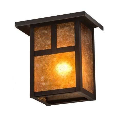 "6.5""Square Hyde Park ""T"" Mission Wall Sconce"