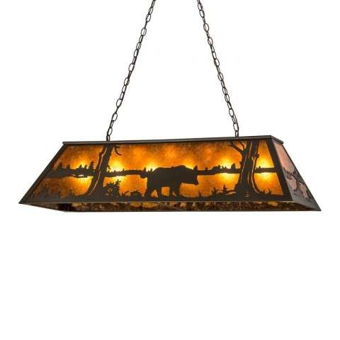 "48"" Long Black Bear Oblong Pendant"